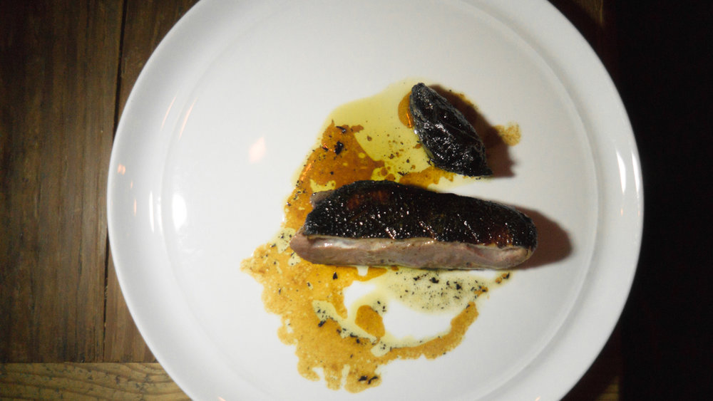 grilled duck breast, slow roasted beets