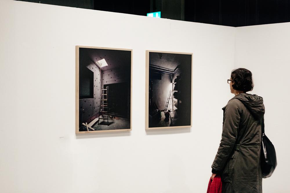 "exhibition view of ""Lichträume"" at Rundgang 2015 of the Acadamey of Fine Arts Vienna"