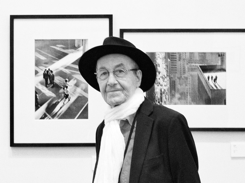 René Burri with two of his iconic works.