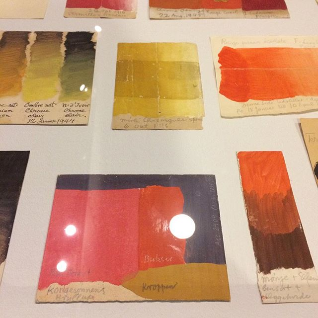 Inspiring colour tests by the great Willumsen.