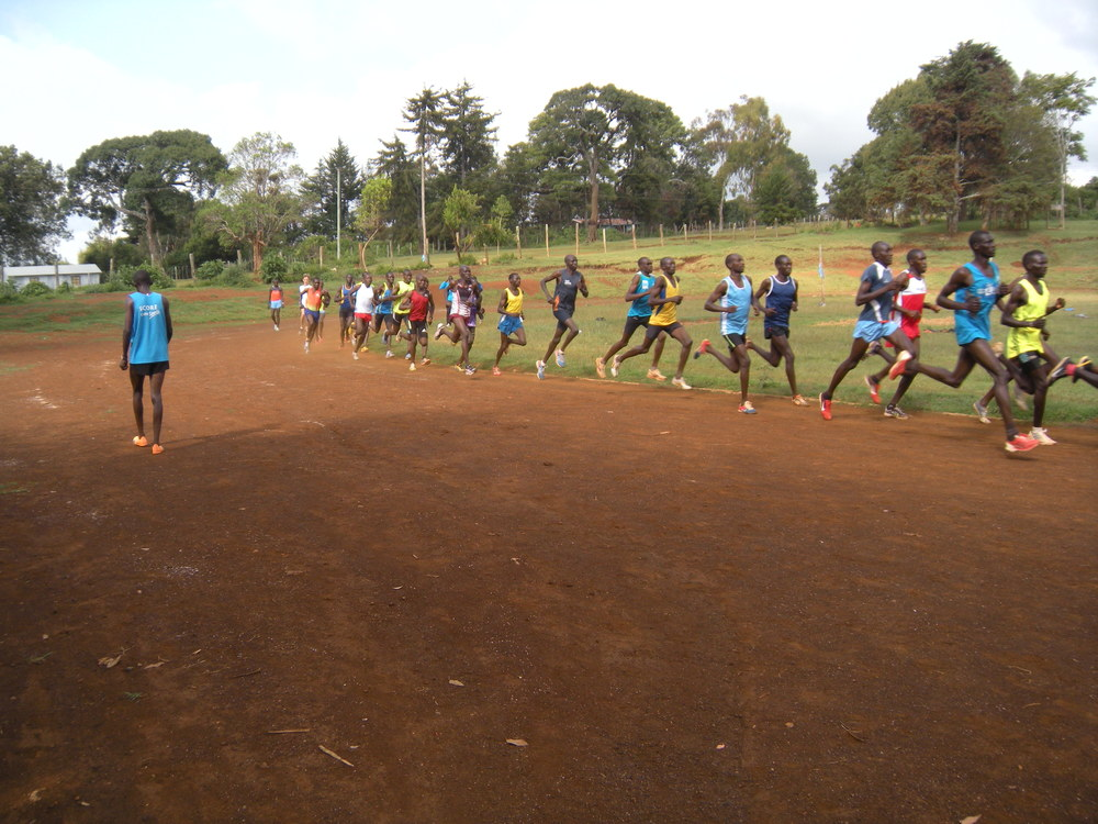 Record holders and future world champions at a running workout in Iten, Kenya,  the home of champions,