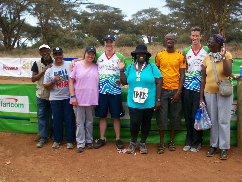 Our group after successfully completing the Lewa Marathon & Half-Marathon