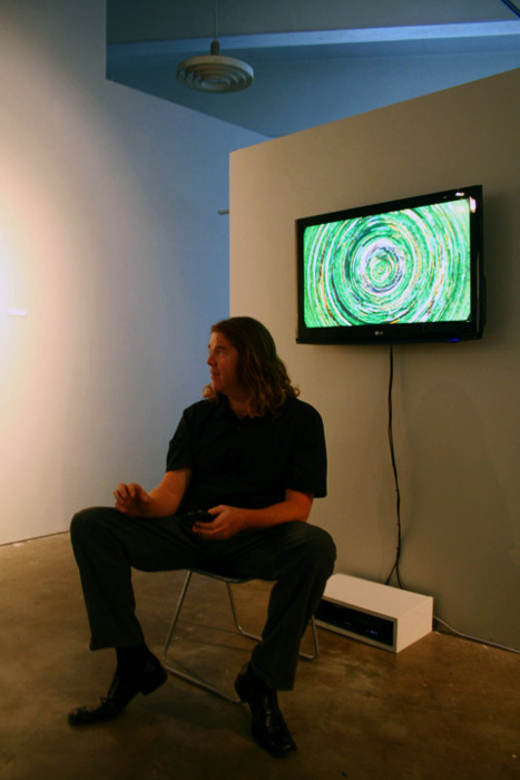 Artist Talk, ANDLAB Gallery, during the inaugural exhibit opening for collective Gramatica Parda, September 2010.