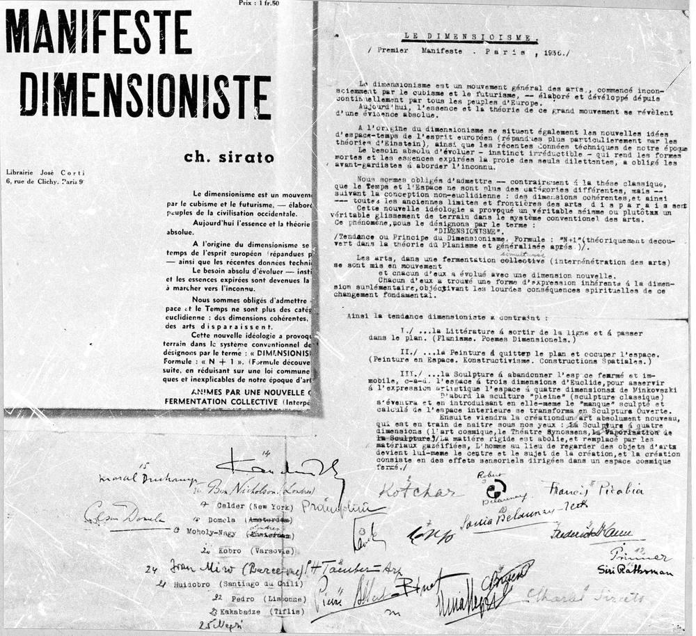 The Dimensionist Manifesto (1936)