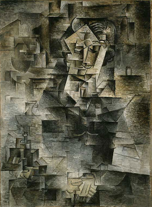 Picasso's  Portrait of  Daniel-Henry Kahnweiler  , 1910,  The Art Institute of Chicago   .