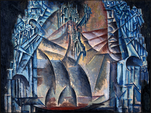 """ Interior of the Fourth Dimension""    by Max Weber (1913)"