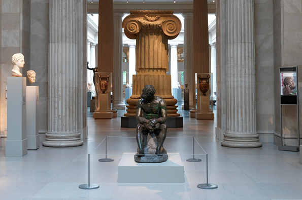 [Fig. 1. The  Boxer at Rest , from the Museo Nazionale Romano-Palazzo Massimo alle Terme, on view in  Gallery 153 ] - Caption from the Met website; click image to read Sean Hemingway's article on the Boxer.