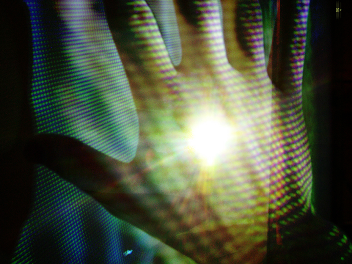 """Shane's Hand at Cultura01 [Projection-affected]"" (PJM, 2005)"