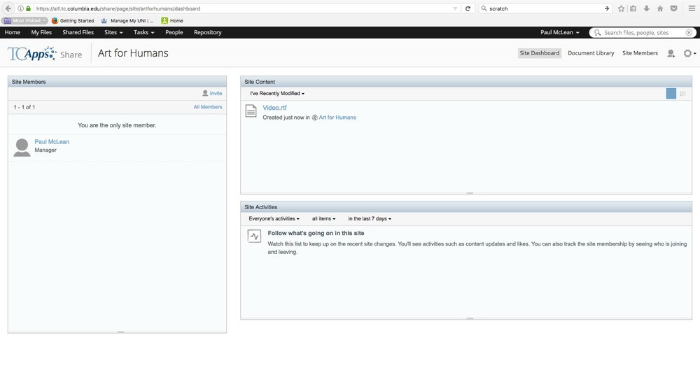 Screenshot of NMNF Moodle