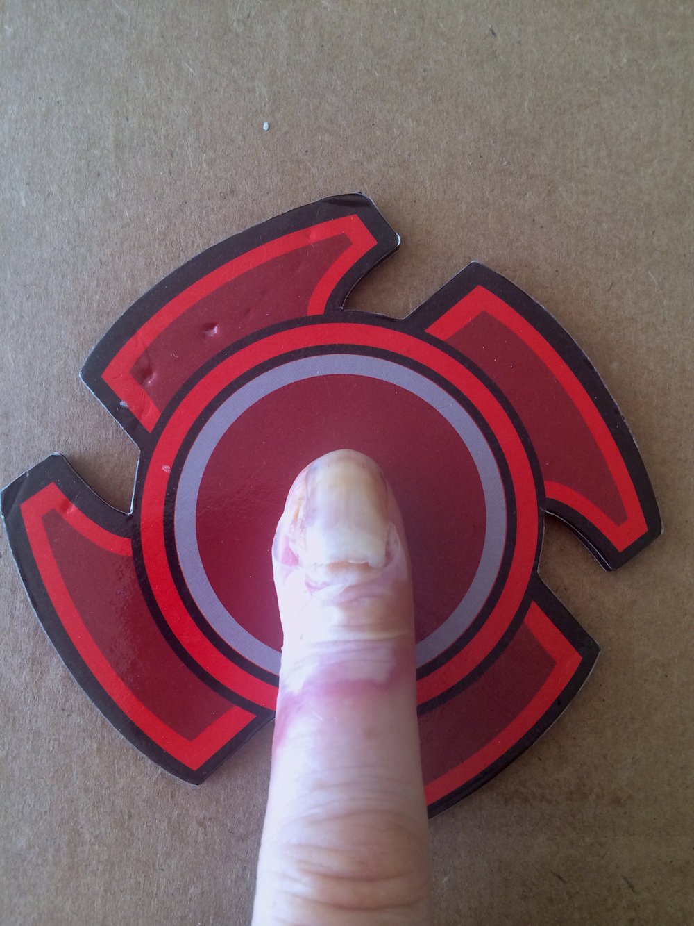 SELFIE #2 - Finger on the Red Button [ Selfie Series (FINGER) , PJM 2017]