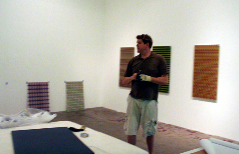 Installing Pattern series Mimaki prints at Art for Humans Gallery Chinatown (2007).