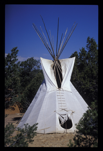 My friend's tipi (New Mexico, 2001; 35mm slide)
