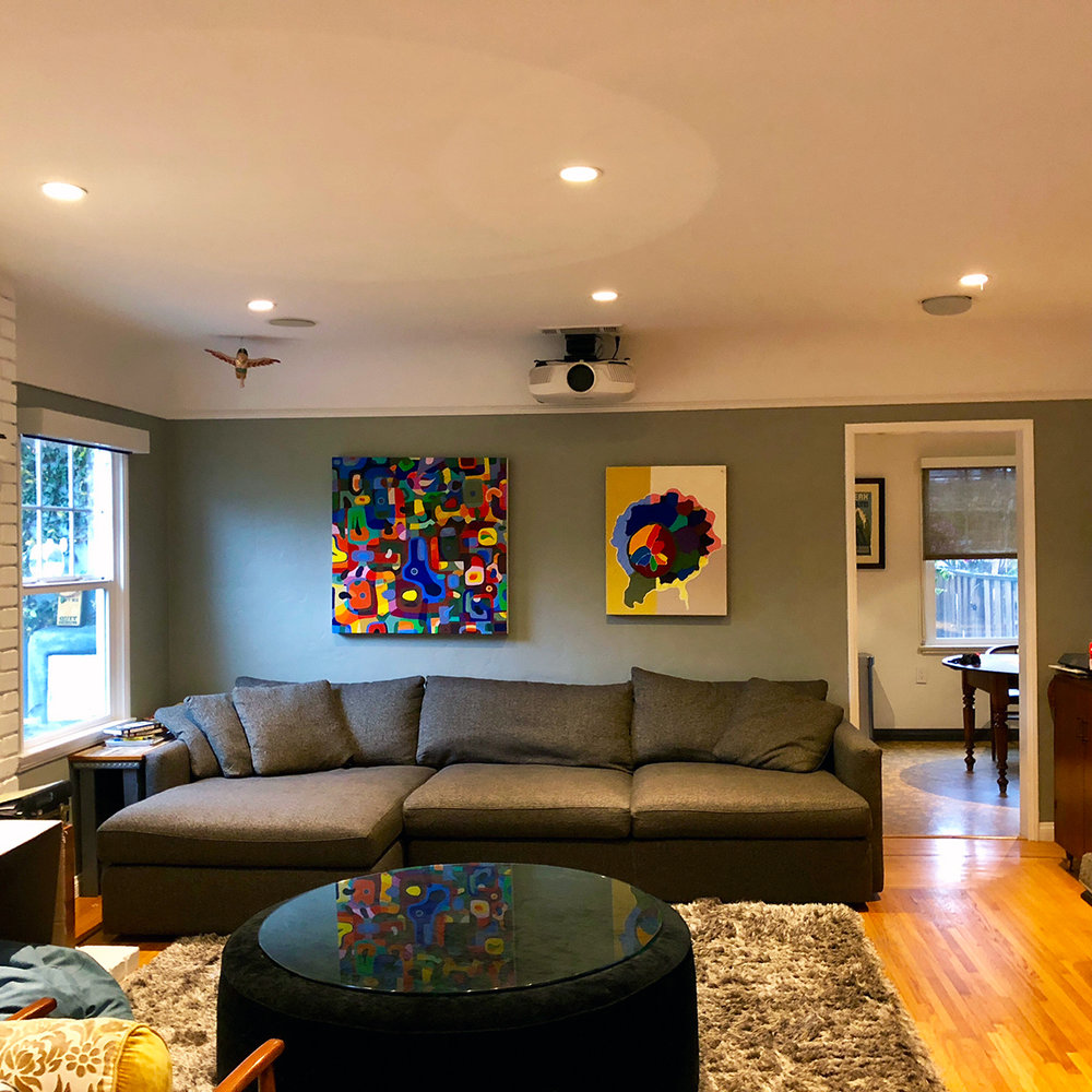4D VyNIL paintings installed in clients' home (2017)