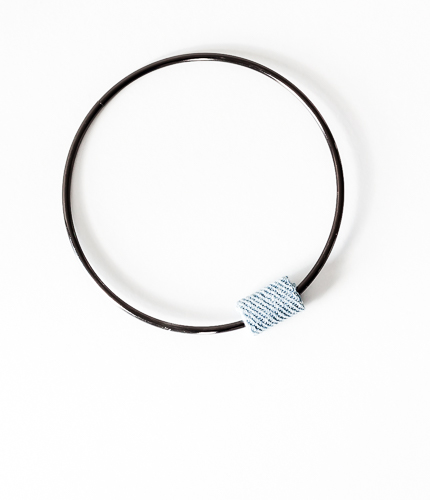 DIY Denim Bead Bangle