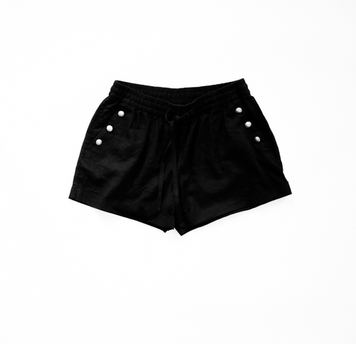 DIY Silver Button Shorts