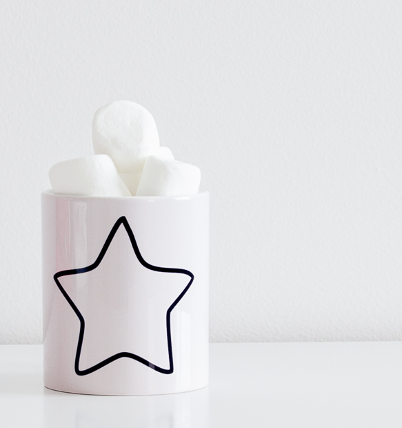 Simple Star Mug | Elke + Blue | MeetMinnie.