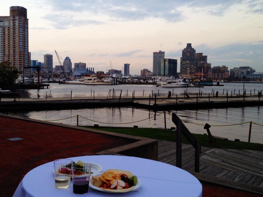 Baltimore Harbor at Sunset