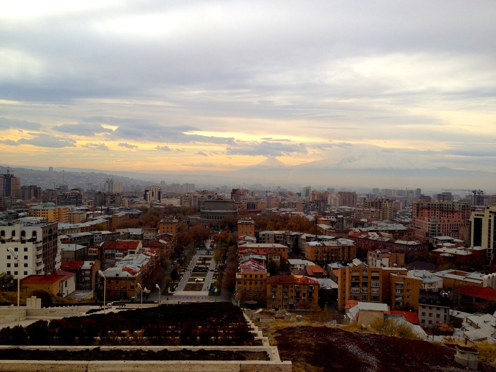 View from the Cascade Monument, Yerevan