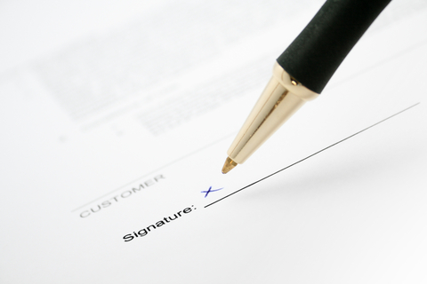 Before you sign on the dotted line.