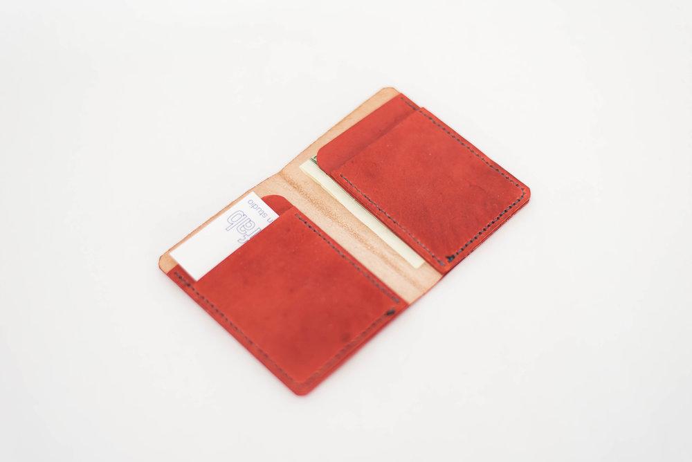 Red B-Fold Wallet