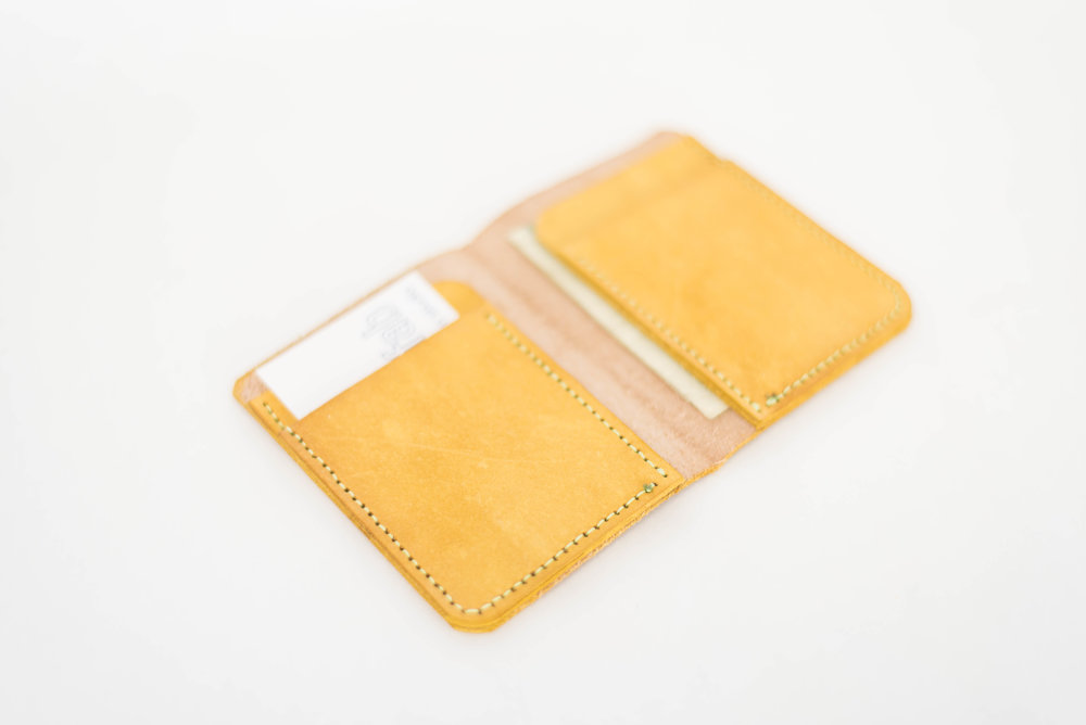 Yellow Bi-Fold Wallet