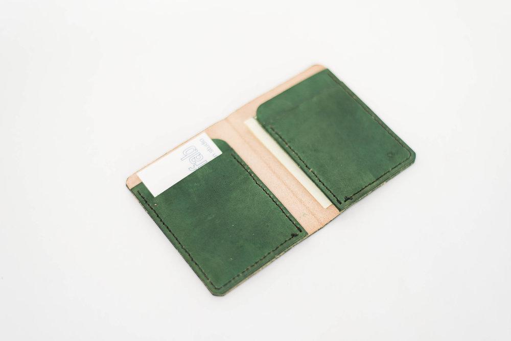 Green Bi-Fold Wallet