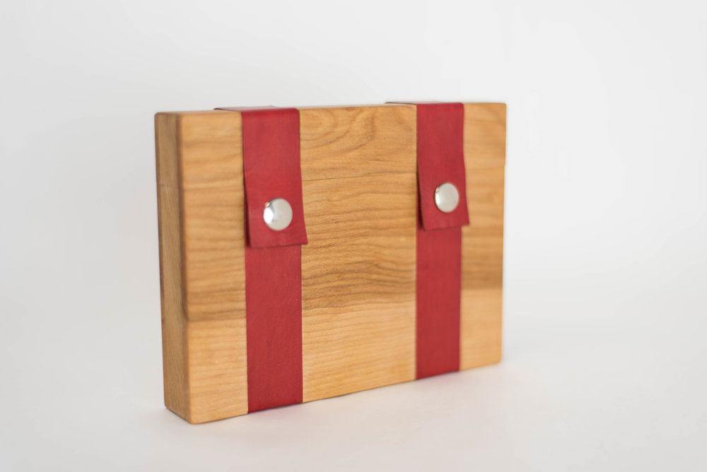 Birch with Red Leather