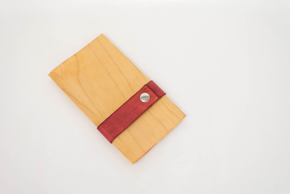 Birch Veneer with Red