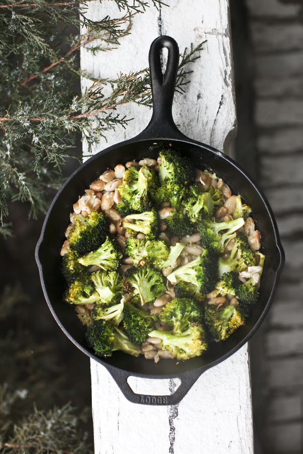Baked Broccoli & Cannellini Beans