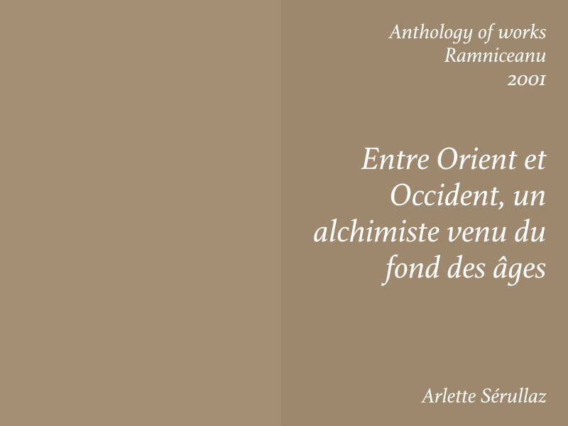 Essays — Stefan Ramniceanu, Arlette Serullaz