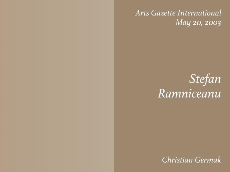 Essays — Stefan Ramniceanu, Christian Germak