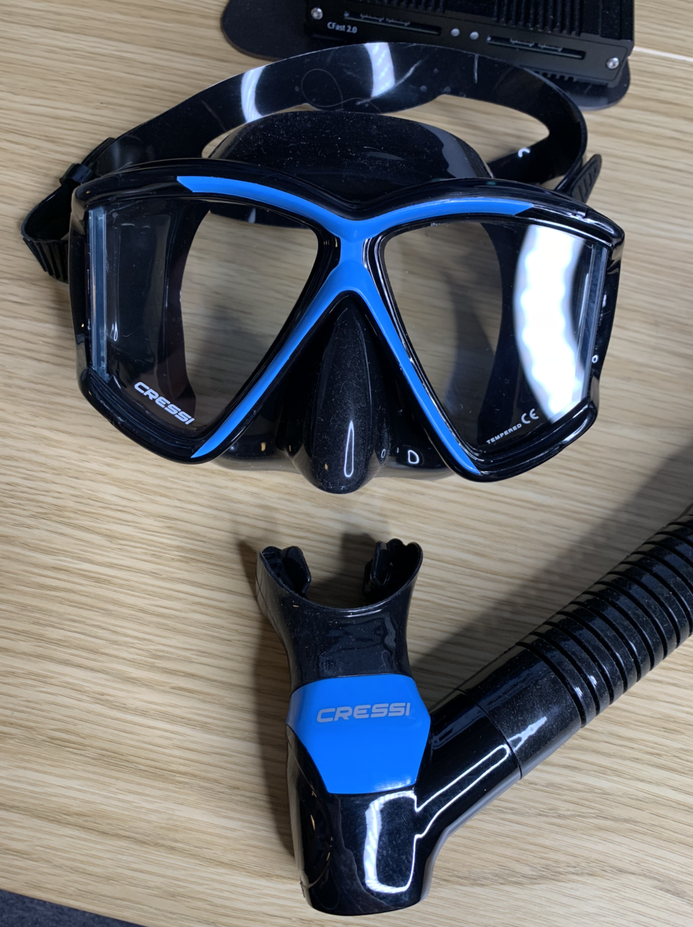 Photo of my actual snorkel that just got delivered by amazon.