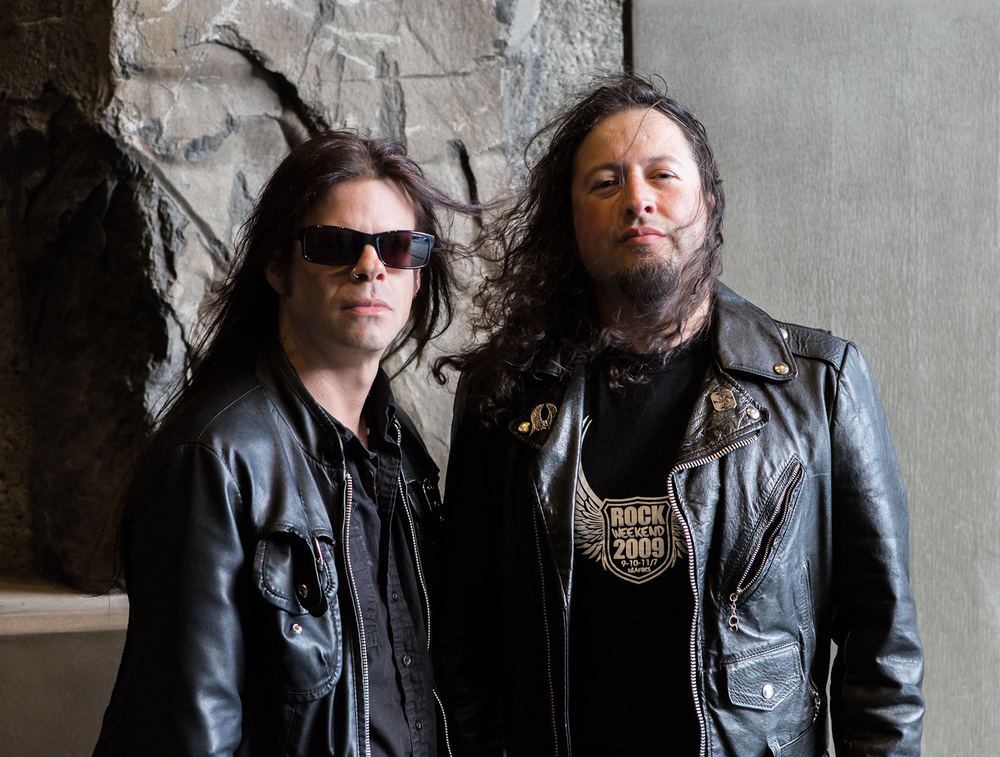 New Rising West/Queensryche vocalist Todd La Torre (left) and guitarist Michael Wilton, just prior to their first show together.