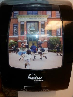 I-view dispenser at Halifax Grammar School