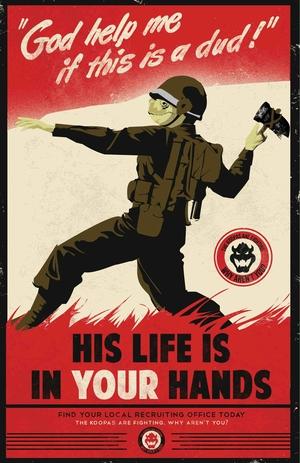 Mario Propaganda: Hammer Toss