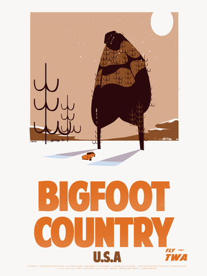 Travel Posters-Bigfoot Country