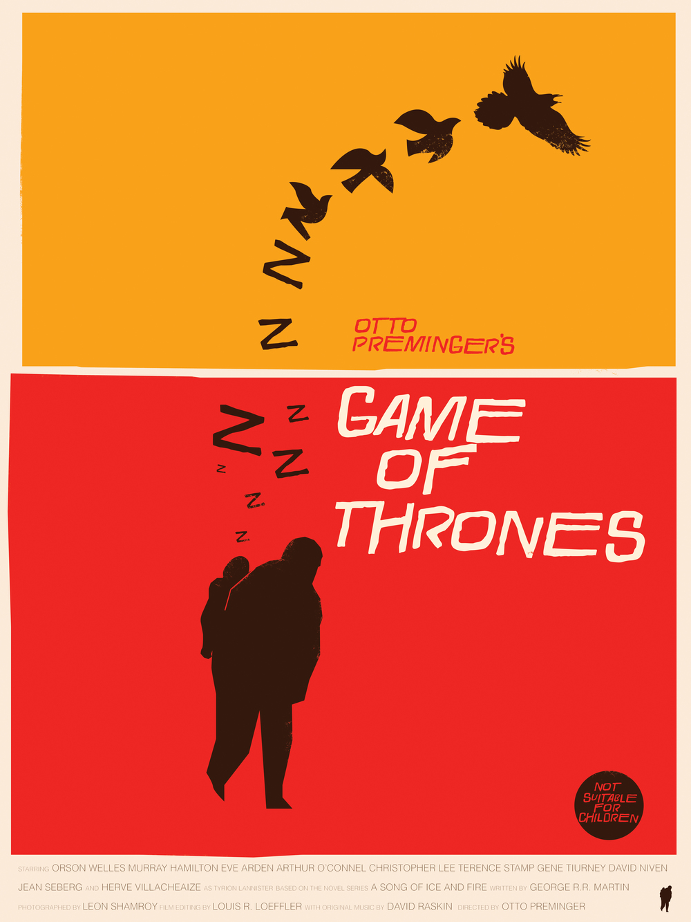 """The Little Lordof WInterfell Saul Bass Tribute 18"""" by 24"""" Giclee Print on Archival Matter Paper Signed & Numbered Limited run ofonly 35 $40.00"""