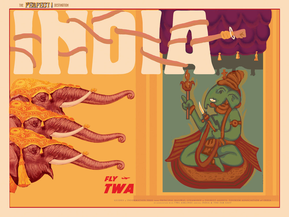 "India inspired by Street Fighter 24"" by 18"" Giclee Print on Archival Paper Signed & Numbered Limited Edition of 50 30.00"