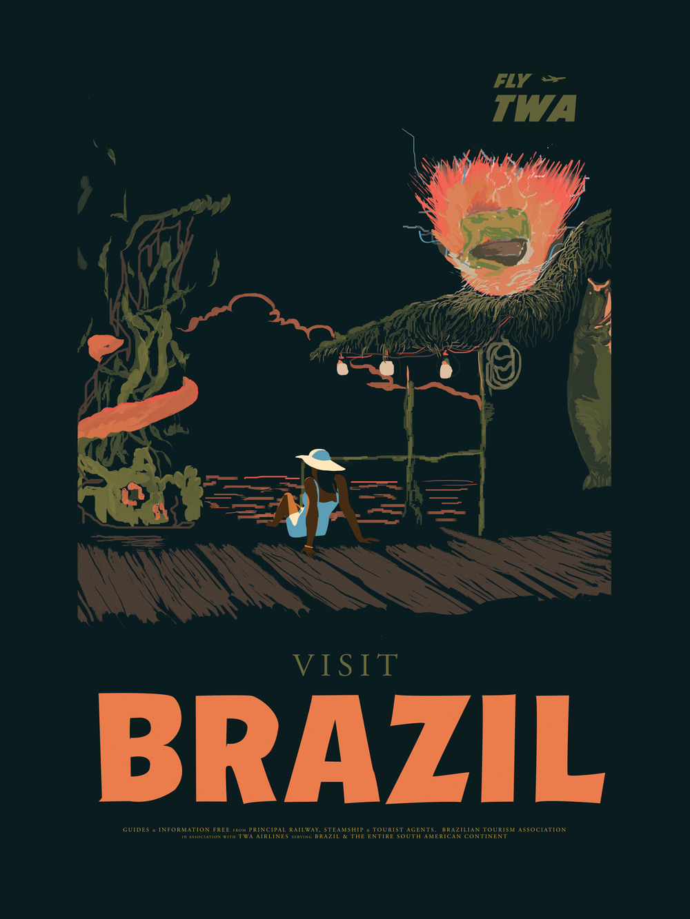 "Brazil inspired by Street Fighter 18"" by 24"" Giclee Print on Archival Paper Signed & Numbered Limited Edition of 50 30.00"