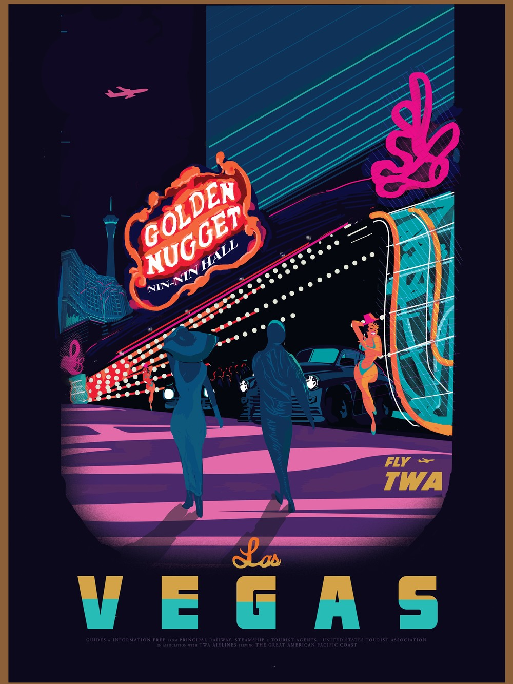 "Las Vegas inspired by Street Fighter 18"" by 24"" Giclee Print on Archival Paper Signed & Numbered Limited Edition of 50 Originally 30.00 Cheezburger Exclusive Price: 25.00"