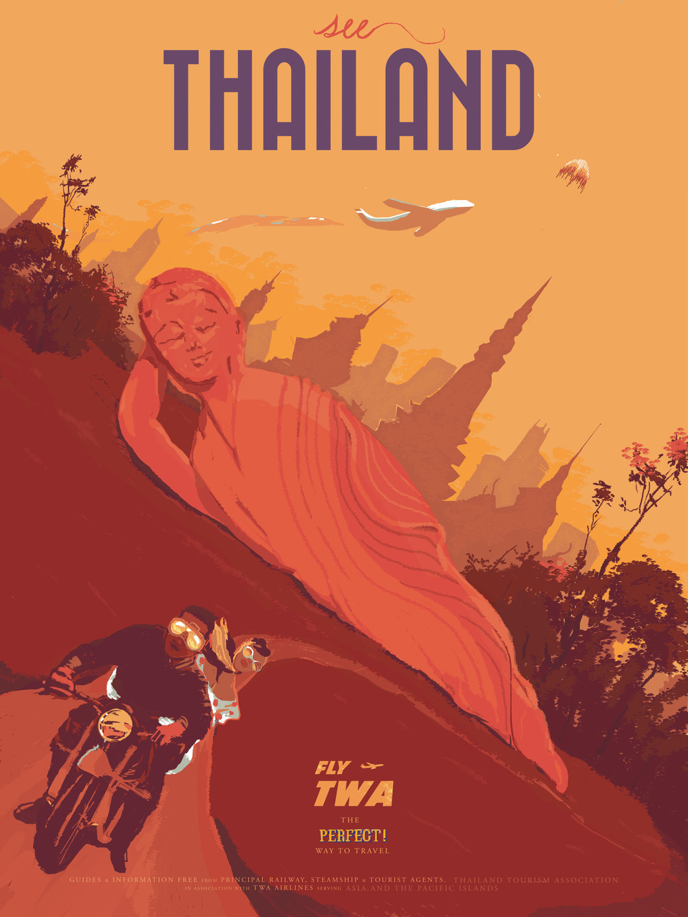 "Thailand inspired by Street Fighter 18"" by 24"" Giclee Print on Archival Paper Signed & Numbered Limited Edition of 50 30.00"