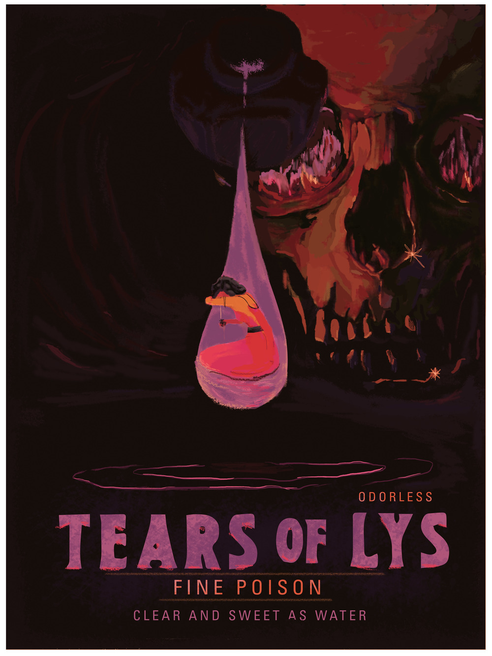 "Tears Of Lys 18"" by 24"" Giclee Print on Archival Paper Signed & Numbered Limited Edition of 100 30.00"