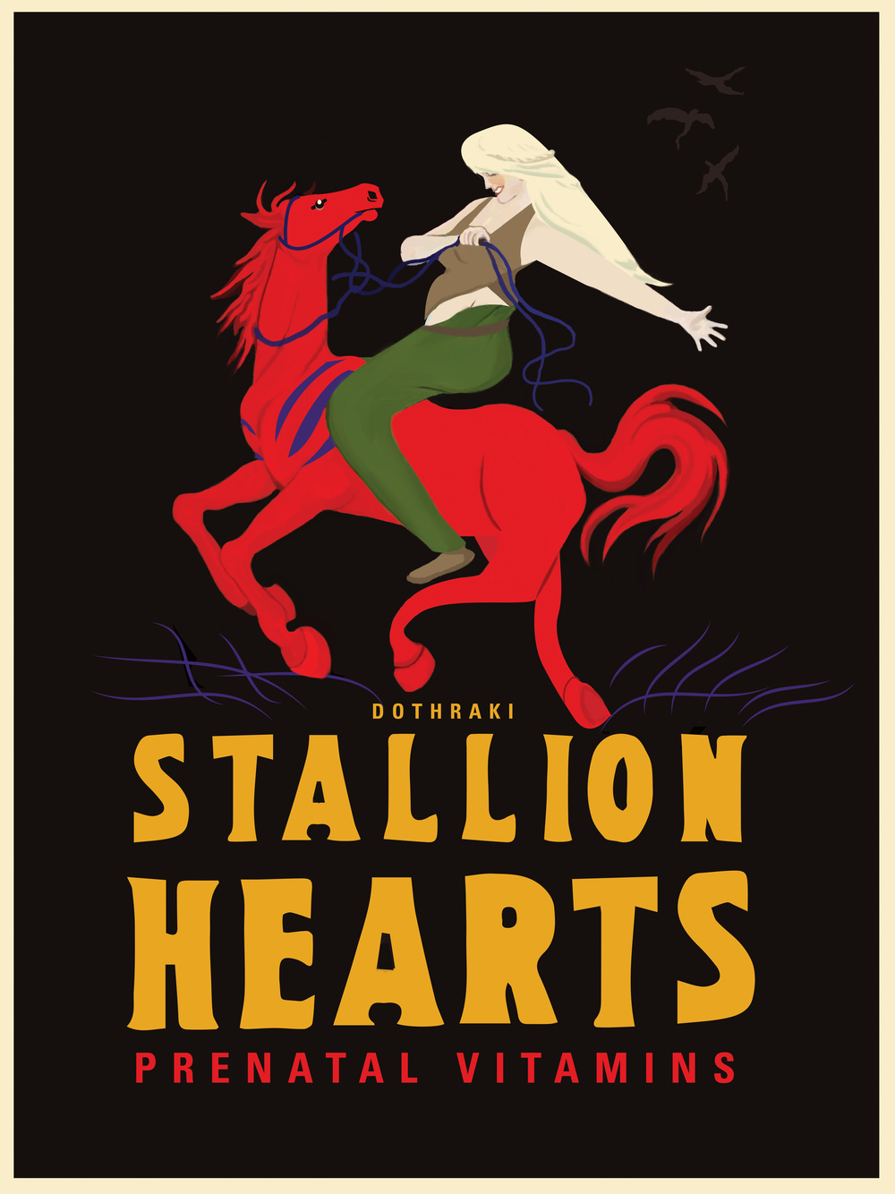 "Stallion Hearts 18"" by 24"" Giclee Print on Archival Paper Signed & Numbered Limited Edition of 100 30.00"