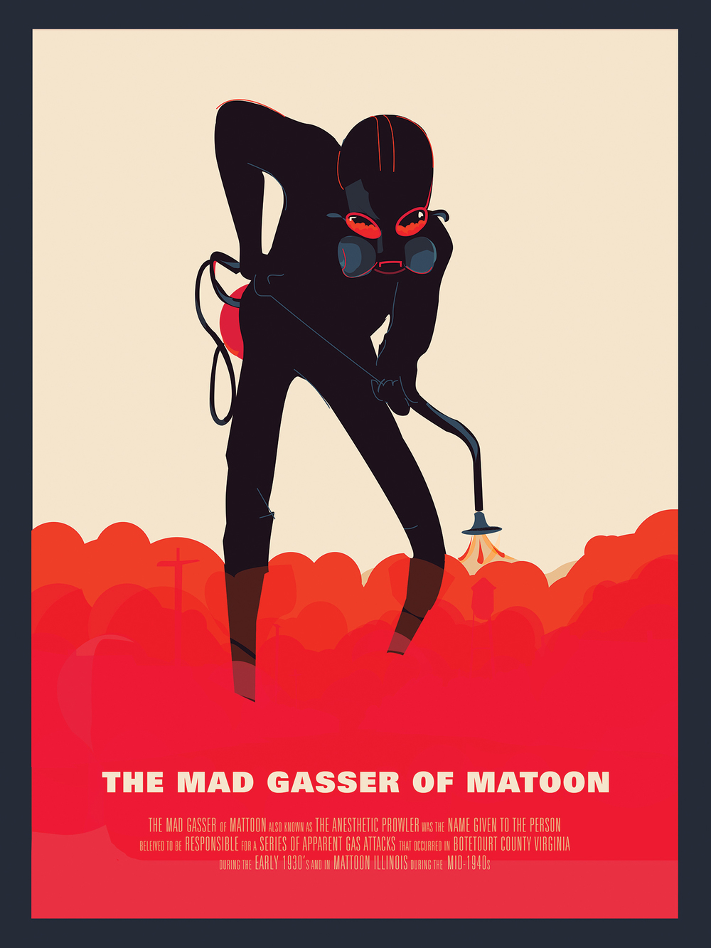 "The Mad Gasser of Matoon 18"" by 24"" Giclee Print on Archival Signed & Number Limited Edition of 50 30.00"