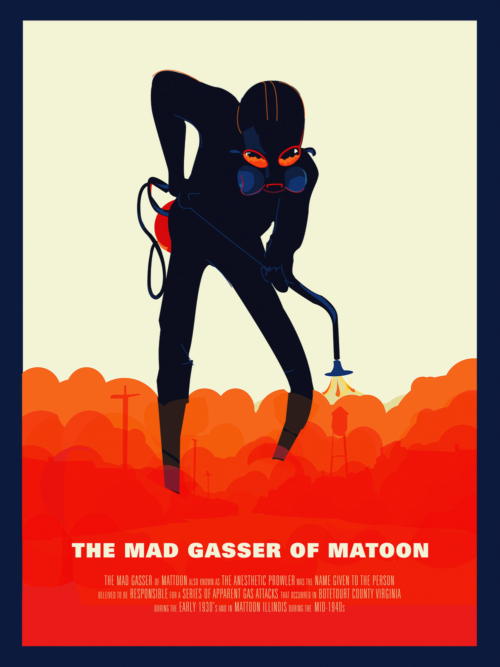 "The Mad Gasser of Matoon (VARIANT) 18"" by 24"" Giclee Print on Archival Signed & Number Limited Edition of 10 30.00"