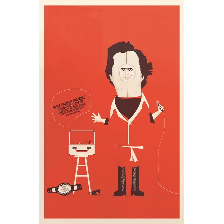 "Song and Dance Man   Inspired by Andy Kaufman  Gallery 1988's ""Is This Thing On"" show  Signed & numbered Limited edition of 10 11"" x 17""  Giclee on enhanced matte archival paper   $50.00"
