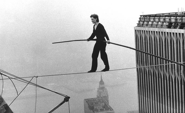 Philippe Petit, world renowned high-wire artist.