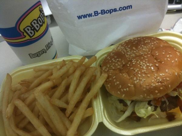 B-Bops Double Bacon Cheeseburger