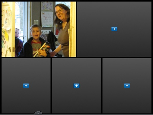 Upload your photos and adjust them. You can zoom in or your photos or rotate them.
