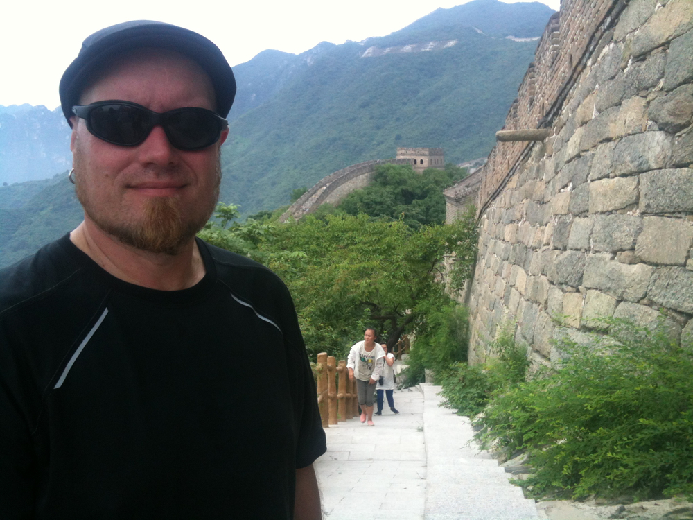 Michael Love at the Great Wall of  China